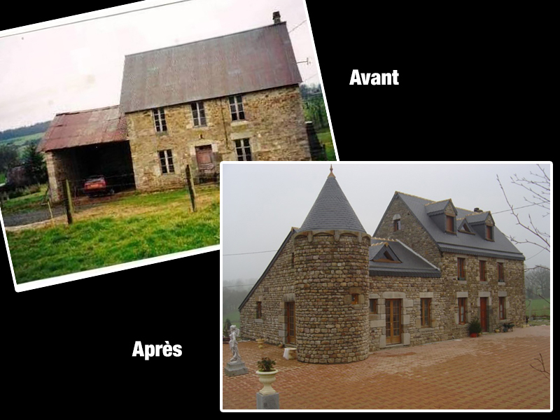 Renovation maison avant apres interesting avant aprs with for Renovation maison pierre